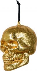Halloween hang vesiering goudkleurig brein