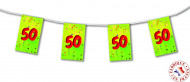 Verjaardagsslinger met vlaggetjes 50 jaar