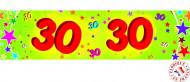 30 jaar verjaardag banier