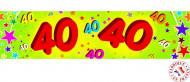 Papieren verjaardagsslinger 40 jaar