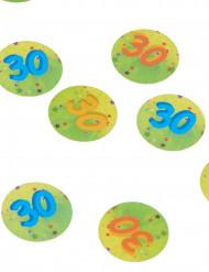 Tafel confetti 30 jaar