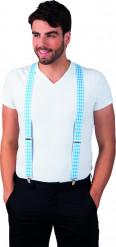 Blauw met witte bretels voor volwassenen