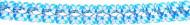 Slinger met blauw-witte motieven