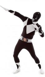 Zwart Morphsuit™ Power Ranger™ kostuum voor volwassenen