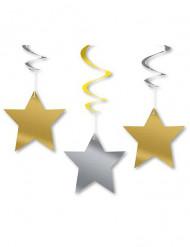 Set sterren hangdecoraties