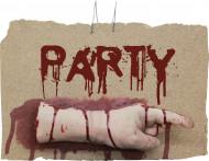 Linker bebloed hand party Halloween versiering