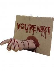 You're next bebloede hand Halloween versiering