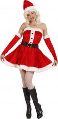 Verkleedkostuum Kerstvrouw bustier jurk voor dames