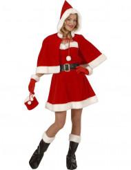 Verkleedkostuum Kerstvrouw luxe voor dames