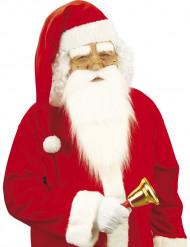 Lange riood met witte kerstmuts voor volwassenen