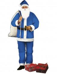 Verkleedpak Kerstman blauw voor heren