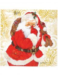 20 Kerstman servetten van 33 x  33 cm