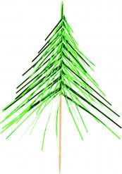 12 kerstboom cocktailprikkers