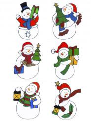 Raamversiering voor Kerst Sneeuwman