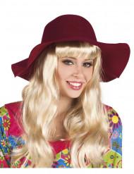 Bordeaux zomerse hoed voor vrouwen