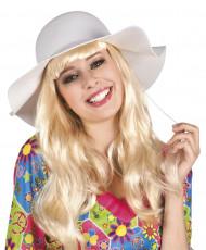 Wit zomerse hoed voor vrouwen