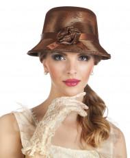 Bruine jaren 20 charleston hoed voor vrouwen