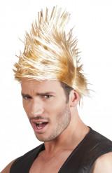 Blonde punk pruik voor mannen