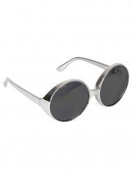 Zilverkleurige disco bril voor volwassenen