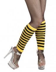 Geel-zwart beenwarmers voor volwassenen