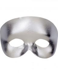 Glinsterend zilverkleurig halfmasker voor volwassenen