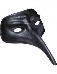 Masker met lange neus zwart voor volwassenen