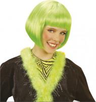 Korte groene cabaretpruik voor meisjes
