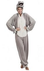 Nijlpaard outfit voor volwassenen