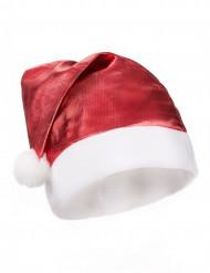 Rode metallic Kerst muts voor volwassenen