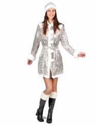 Kerstvrouw glitter jas voor dames