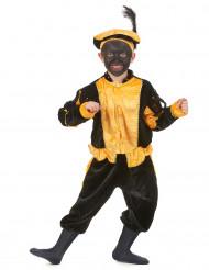 Geel zwarte piet kostuum voor kinderen