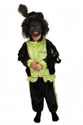 Groen zwarte piet kostuum voor kinderen