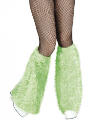 Groene beenverwarmers met lange haren