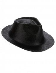 Zwart hoed met glitters voor volwassenen