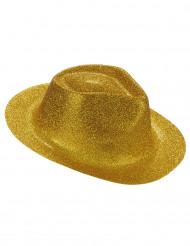 Hoed met goudkleurig glitters voor volwassenen