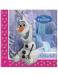 Set van 20 papieren servetten Olaf Frozen™