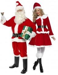 Verkleedkostuum koppel Kerstman en Kerstvrouw