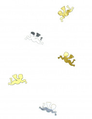 Tafelconfetti engel goud en zilverkleurig