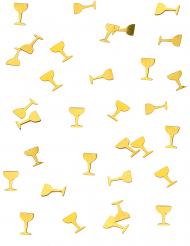 Tafelconfetti champagne glazen