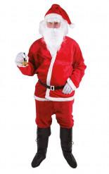 Pluche Kerstman kostuum voor volwassenen