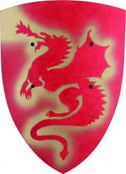 Wapenschild draak rood voor kinderen