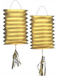 2 goudkleurige lantaarns