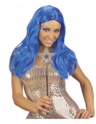 Blauwe sterrenpruik voor vrouwen