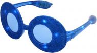 Blauwe glitter bril LED