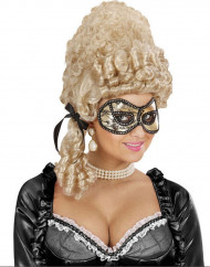 Goudkleurig masker met zwart kant voor volwassenen