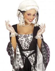 Witte handschoenen met kantwerk voor vrouwen