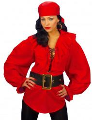 Rood piraten overhemd voor vrouwen