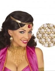 Ketting halsband met goudkleurige kralen voor vrouwen