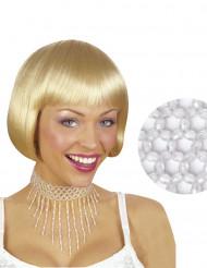 Witte kralenketting voor vrouwen