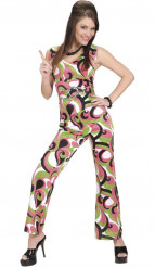 Groene disco kostuum voor vrouwen